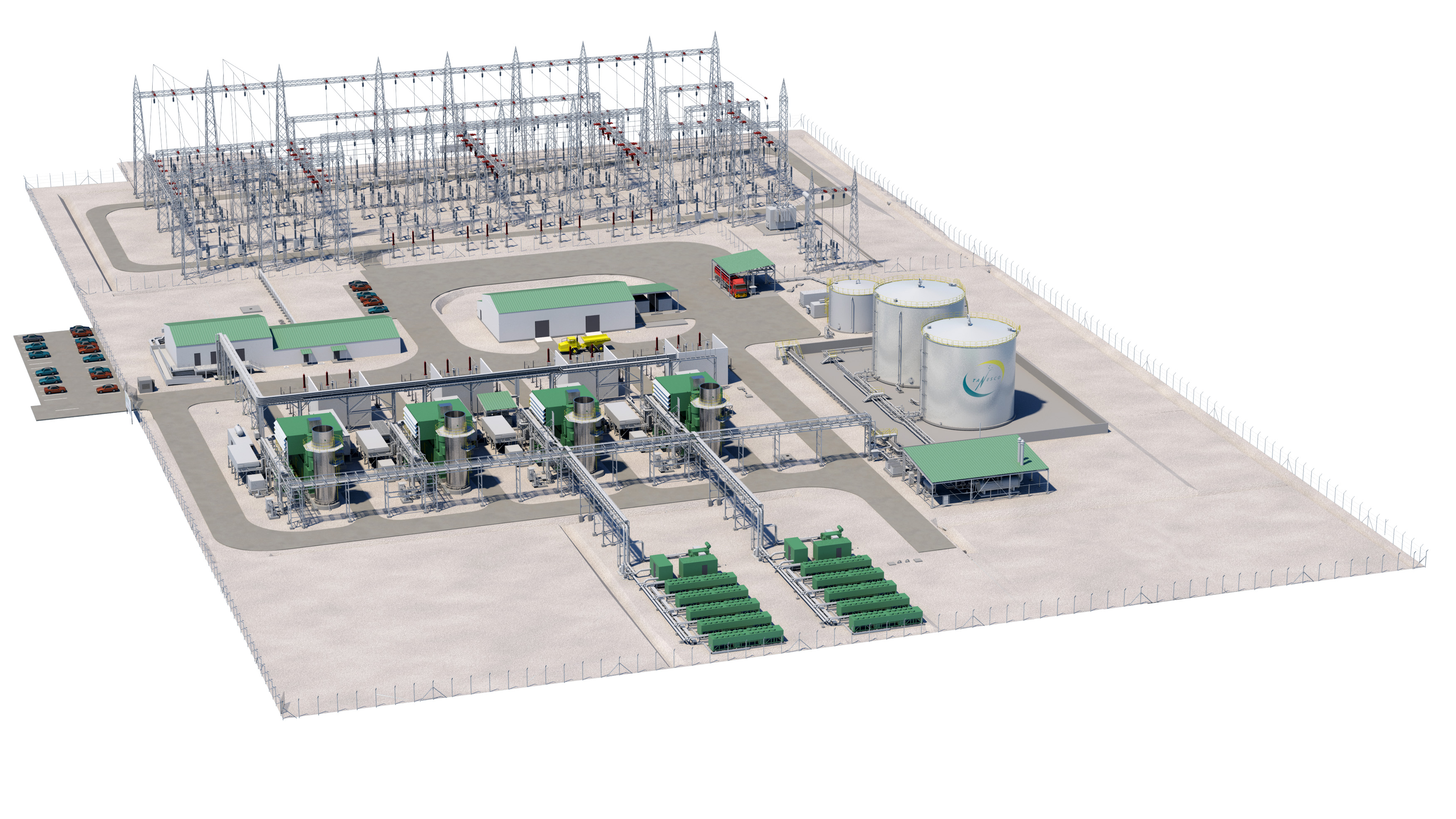 Full design engineering for 105 MW gas turbine power plant Ibese
